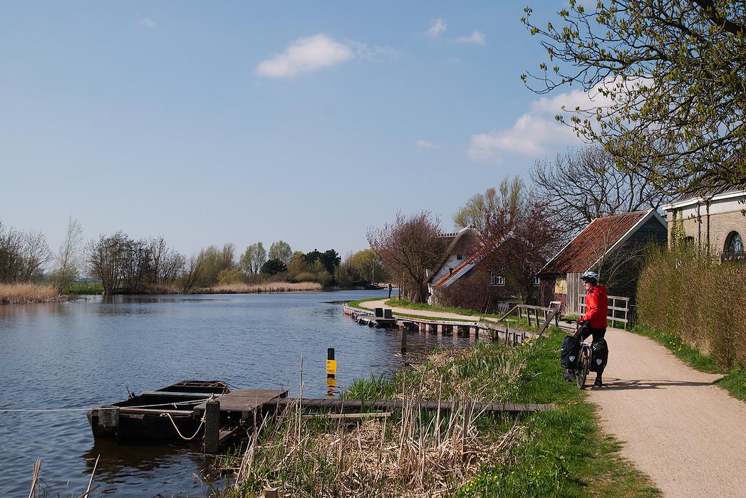 Cicloturisn in Olanda, pe langa Rotterdamm